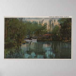 Water View of Tomoka River & Marsh, Florida Poster