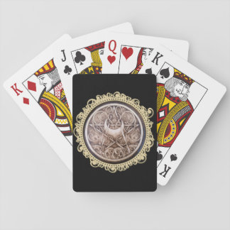 Water, Vines, and Moon Playing Cards - Black