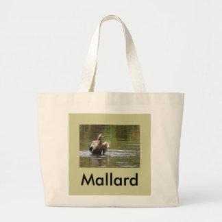 Water Walking Mallard Jumbo Tote Bag