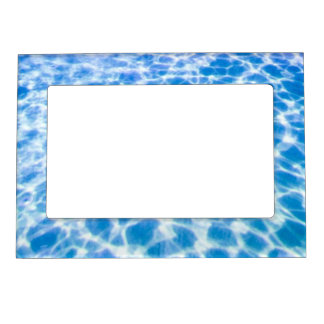 water-wallpaper CLEAR BLUE OCEAN RIPPLES WATER PHO Magnetic Photo Frame