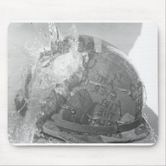 Water War helmet Mouse Pad