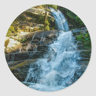 Water Waterfall Nature Park Country Destiny Round Stickers