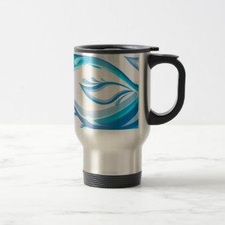 Water Wave 15 Oz Stainless Steel Travel Mug