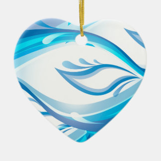 Water Wave Ceramic Ornament