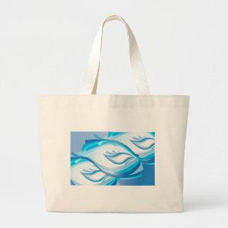 Water Wave Large Tote Bag
