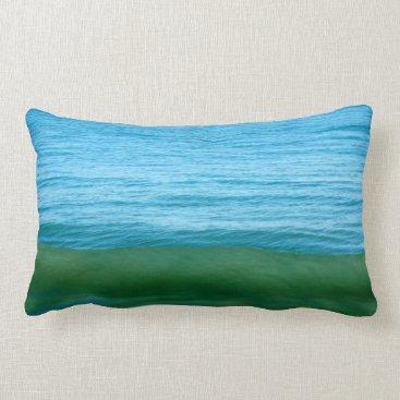 Beach Themed Water/Wave/Ocean Lumbar Pillow