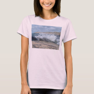 Water Wave Over Rock T-Shirt