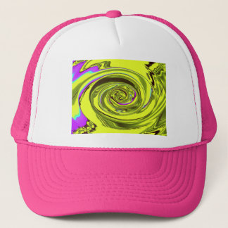 water wave xavier yellow trucker hat