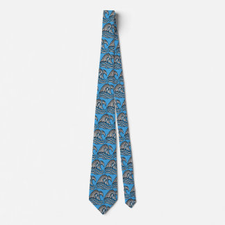 Water Waves, Clear Water Blue Neck Tie