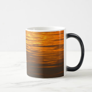 Water Waves on Sunset 11 Oz Magic Heat Color-Changing Coffee Mug