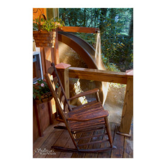 Water Wheel and porch Poster