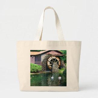 Water Wheel Pond Seurat Painting Bag