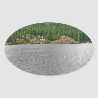 Water Wild Nature Reserve Oval Sticker