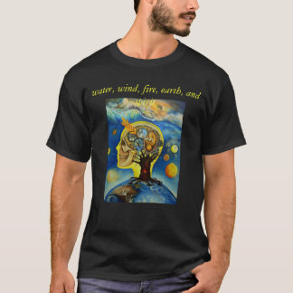 water, wind, fire, earth, and spirit T-Shirt