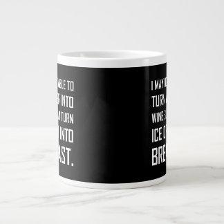 Water Wine Ice Cream Breakfast Joke Giant Coffee Mug