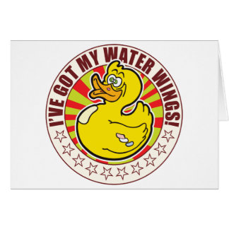 Water Wings Duck Greeting Card