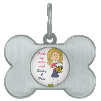 Water With Barley And Hops Pet Name Tag