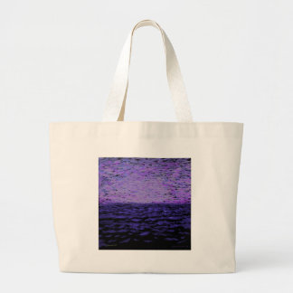 Water with Purple sky Canvas Bag