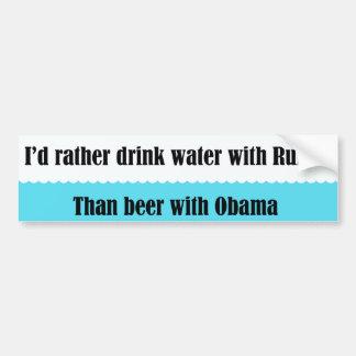 Water with Rubio Car Bumper Sticker