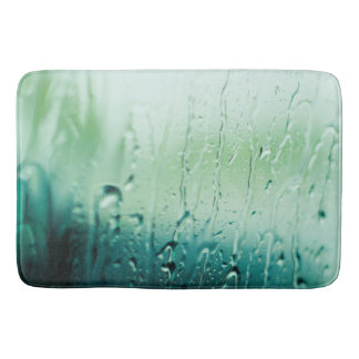 WATER WORKS BATH MAT BLUE RAIN