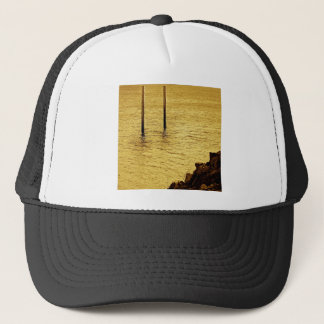 Water Yellow Sea Posts Trucker Hat