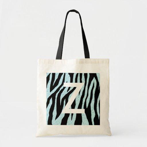 Water Zebra Print Canvas Bags