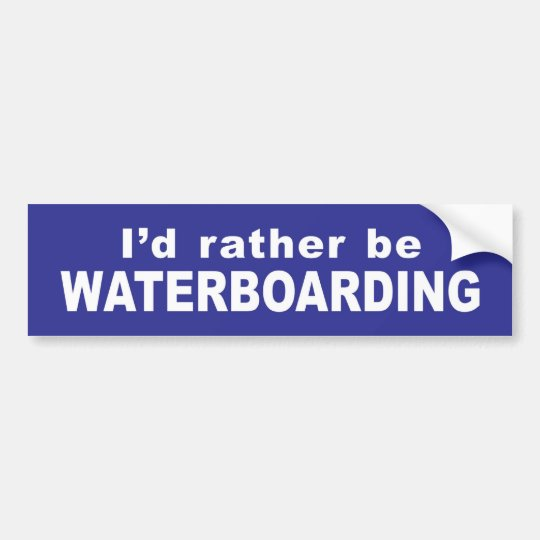 Waterboard Bumper Sticker