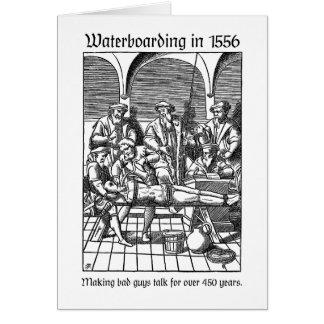 Waterboarding in 1556 greeting card