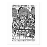 Waterboarding in 1556 postcard