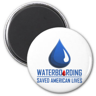 Waterboarding 2 Inch Round Magnet