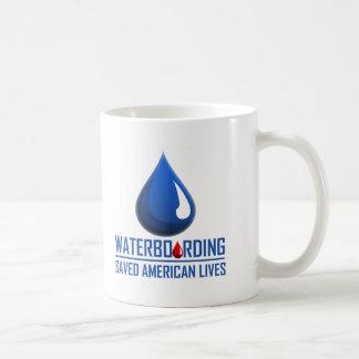 Waterboarding Classic White Coffee Mug
