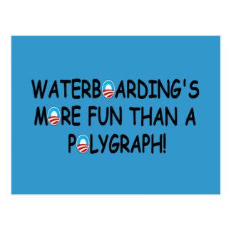 Waterboarding Postcard
