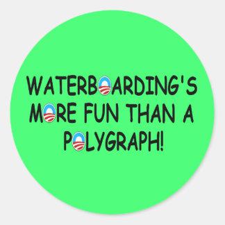 Waterboarding Classic Round Sticker