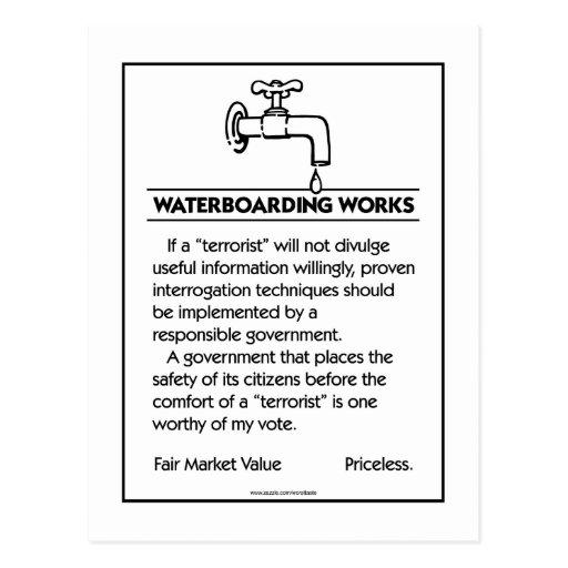 Waterboarding Works Postcard