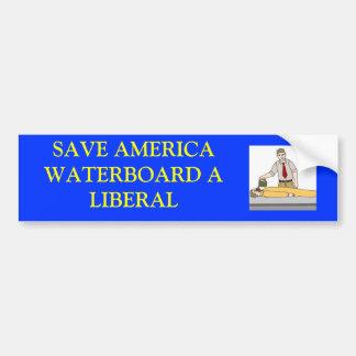 waterboardingaliberal RESERVA AMERICAWATERBOARD A Pegatina De Parachoque