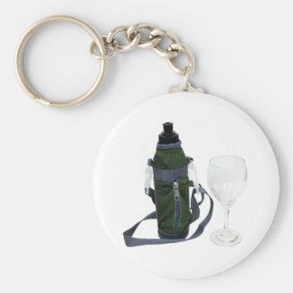 WaterBottleWineGlass050209 Keychain