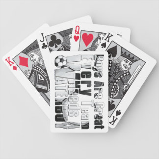 Waterboy Scoccer Bicycle Playing Cards