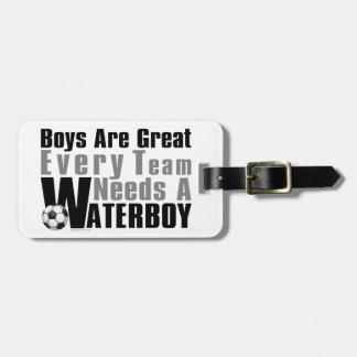 Waterboy Soccer Bag Tag
