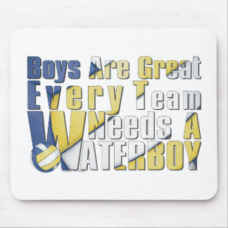 Waterboy Volleyball in Blue and Yellow Mouse Pad