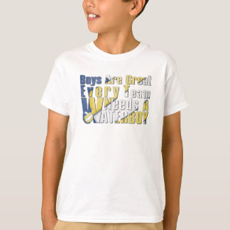 Waterboy Volleyball in Blue and Yellow T-Shirt