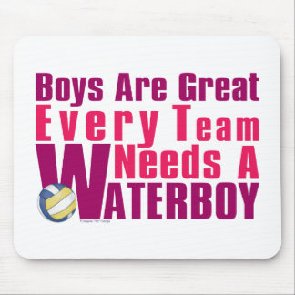 Waterboy Volleyball in Pink Mouse Pad