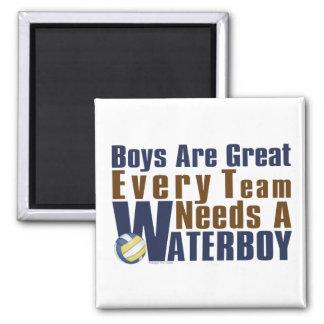 Waterboy Vollyball en azul Imán Cuadrado
