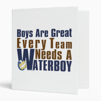 Waterboy Vollyball in Blue 3 Ring Binder