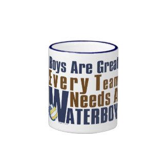Waterboy Vollyball in Blue Ringer Mug
