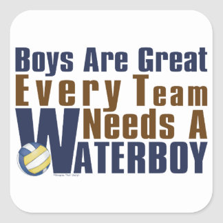 Waterboy Vollyball in Blue Square Sticker