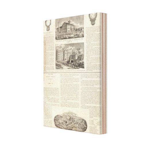 Waterbury Clock Company Impresión En Tela