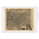 Waterbury, CT Panoramic Map - 1899  Greeting Card