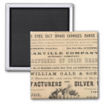 Waterbury Hook and Eye Company 2 Inch Square Magnet