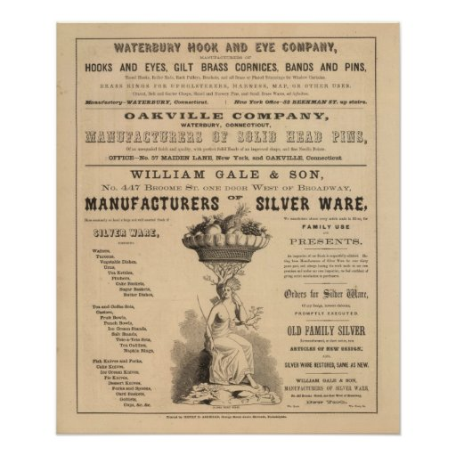 Waterbury Hook and Eye Company Poster