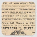 Waterbury Hook and Eye Company Square Sticker